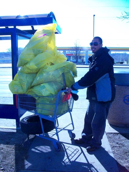 "Somebody asked me, ""How many bags of trash was that?"" I replied, ""A lot."""